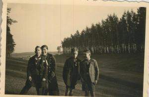 Raddagshausen und Harz v. 1936 4 Jungs - siehe Rückseite !!  (57833)