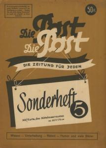 Die Post als Umschlag-Druck: Waldheim-Eberle,Buchgewerbehaus M. Müller,Wien 62 --  2 x Landkarte Mittelmeerraum  (58210)