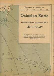 Die Post -- Druck: Waldheim-Eberle,Buchgewerbehaus M. Müller,Wien 62,  Ostasien-Landkarte  (58212)