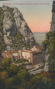 Montserrat v. 1939  El Monasterio desde el camino de San Juan  (58328)