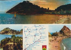 Tossa de Mar / Costa Bravo v. 1962  3 Ansichten und Landkarte  (58348)