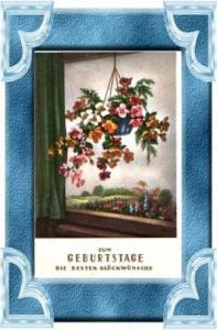 Geburtstag v.1931 Blumen am Fenster (11613)