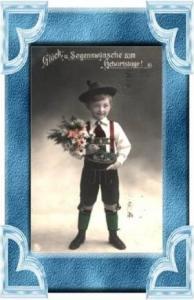 Geburtstag v.1911 Trachtenjunge (11616)