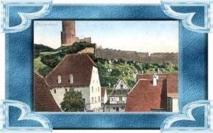 Kayersberg v.1916 Teil-Stadt-Ansicht (11728)
