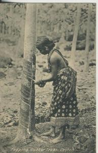 Ceylon v. 1931  Tapping Rubber Trees (45384)
