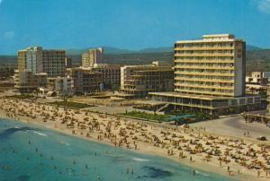 Cala Millor / Mallorca v. 1971  Hotel-Anlagen und Strandansicht  (55283)