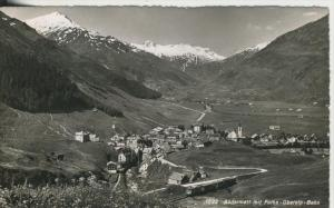Andermatt v. 1964  Total Dorf Ansicht mit Furka -Oberalp-Bahn (43322)