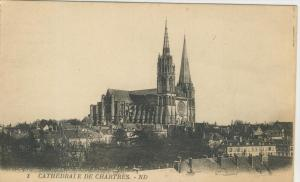 Chartres v. 1916  Stadt & Cathedrale  (43456)