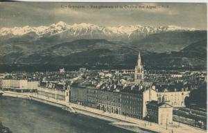 Grenoble v. 1920 Teil-Stadt-Ansicht  (43461)
