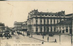 Bordeaux v. 1914  Bahnhof Midi mit Pferdekutschen  (43465)