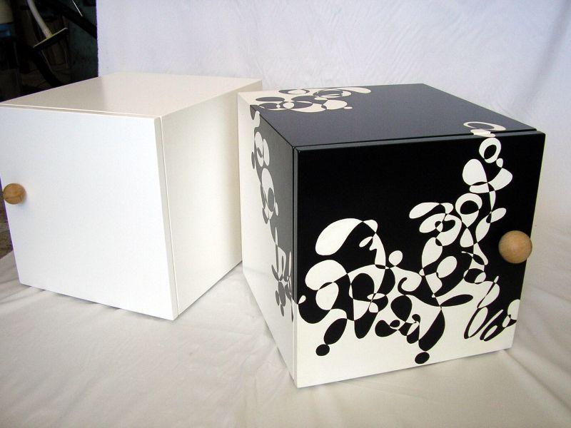 6 w rfel aus holz handbemalt holzw rfel 40x40x40cm 3 einl ger. Black Bedroom Furniture Sets. Home Design Ideas