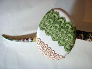 Kleiderbügel aus Holz 3 Plätze von Hand verziert, 100cm