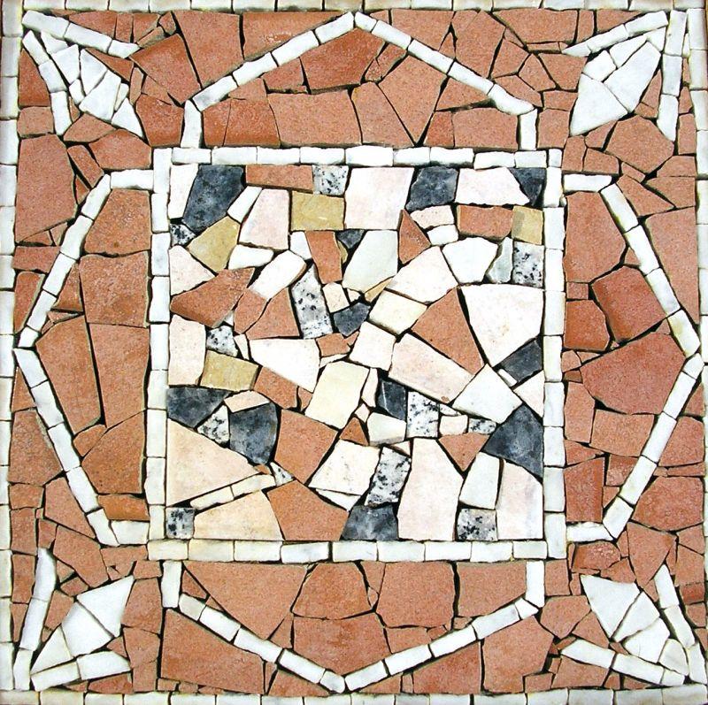 Mosaik-Panel (Marmor und Keramik), 30x30cm
