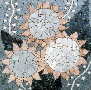Mosaik-Panel (Marmor und Keramik), 55x55cm