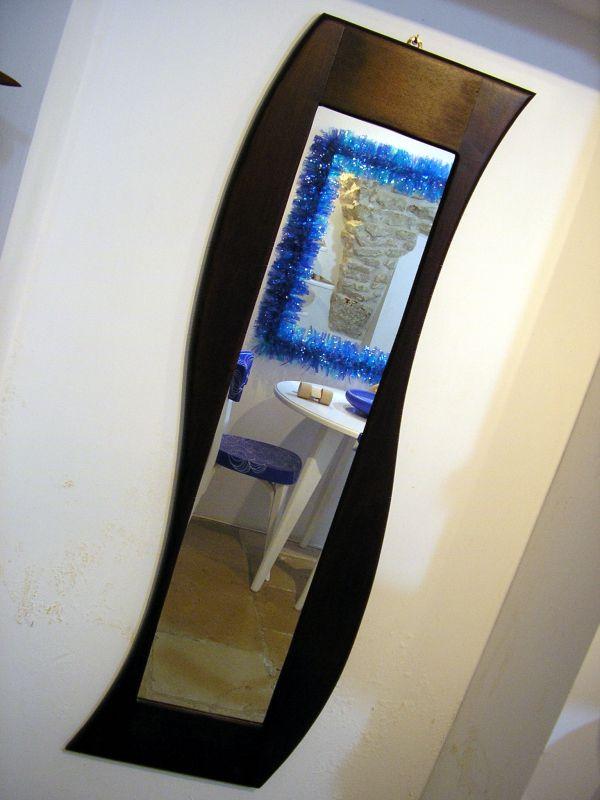 Spiegel aus Massivholz, 140x45cm