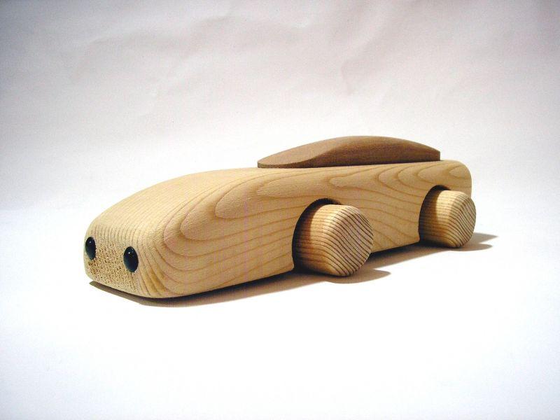 Zieh-Auto, Massivholz, 22cm