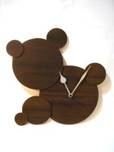 Holz Uhr, 43cm