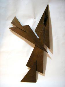 Holz Uhr, 68cm