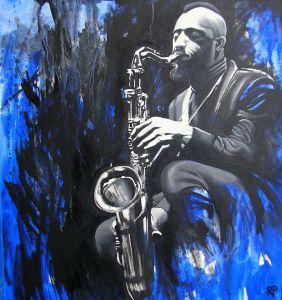 Sonny Rollins (Öl auf Leinwand - 63x68)