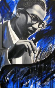 Thelonious Monk (Öl auf Leinwand - 42x64)