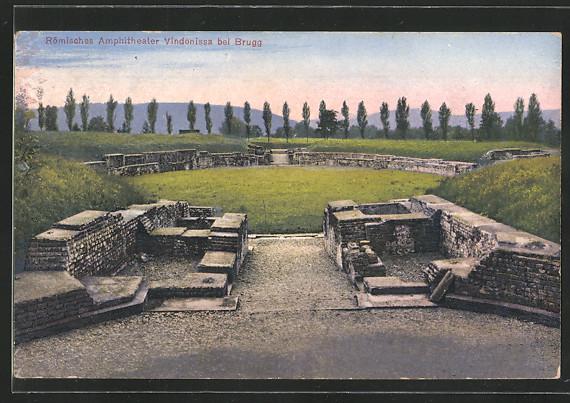 AK Windisch, Römisches Amphitheater Vindonissa