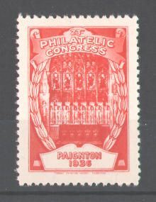 Reklamemarke 23rd Philatelic Congress Paignton 1936, Altar in der Kirche