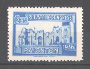 Reklamemarke 23rd Philatelic Congress Paignton 1936, Burgruine