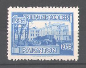 Reklamemarke 23rd Philatelic Congress Paignton 1936, Ausstellungs-Gebäude