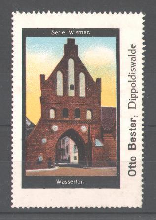 Reklamemarke Serie: Wismar, Wassertor