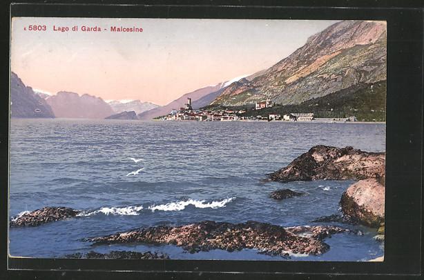 AK Malcesine, Lago die Garda, Panorama