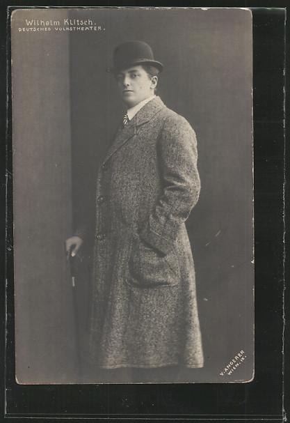 AK Portrait Theaterschauspieler Wilhelm Klitsch, Deutsches Volkstheater  0