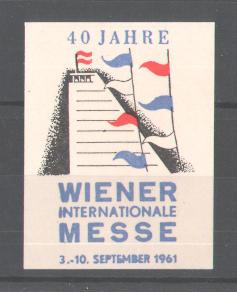 Reklamemarke 40 Jahre Wiener Internationale Messe 1961, Messelogo 0