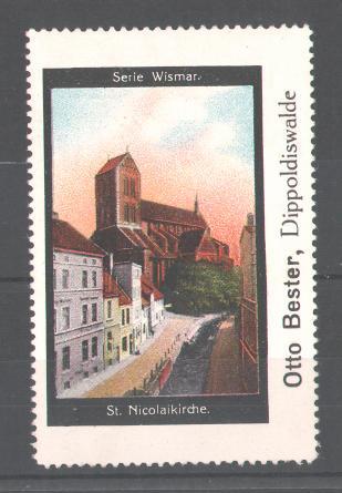Reklamemarke Serie: Wismar, St. Nicolaikirche 0