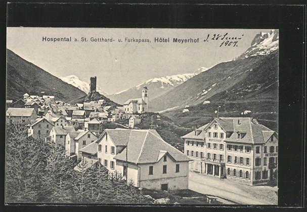AK Hospental a. St. Gotthard- und Furkapass, Hotel Meyerhof