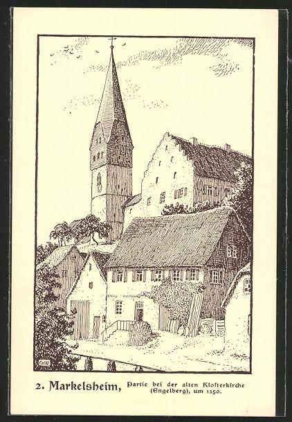 AK Markelsheim, Partie bei der alten Klosterkirche 0