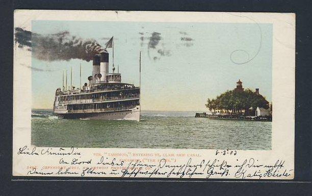 AK Dampfer Tashmoo fährt in den St. Clair Ship Canal ein 0