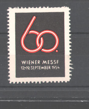 Reklamemarke 60. Wiener Messe 1954 0