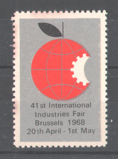 Reklamemarke 41st International Industries Fair Brussels 1968, Messelogo 0