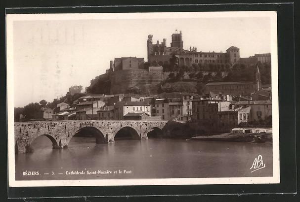 AK Beziers, Cathedrale Saint-Nazaire et le Pont 0