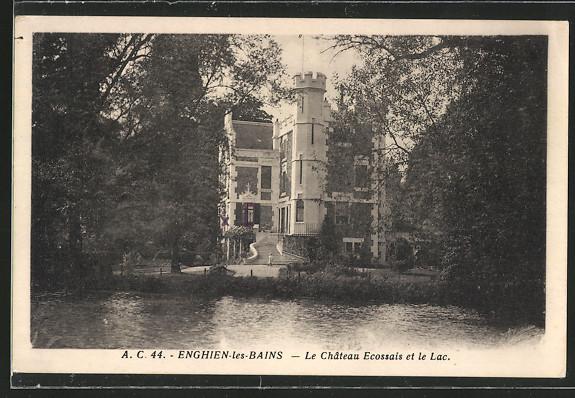 AK Enghien-les-Bains, Le Chateau Ecossais et le Lac 0