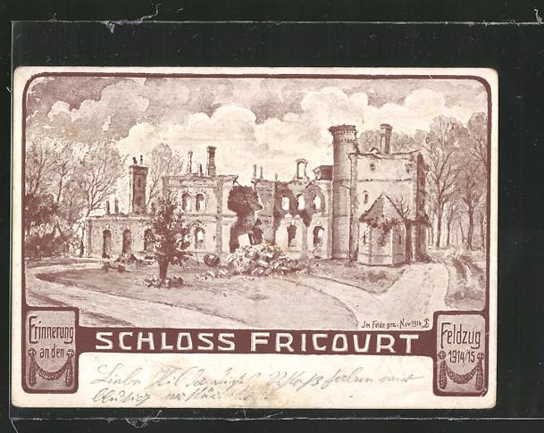 Künstler-AK Fricourt, Schloss Fricourt 0