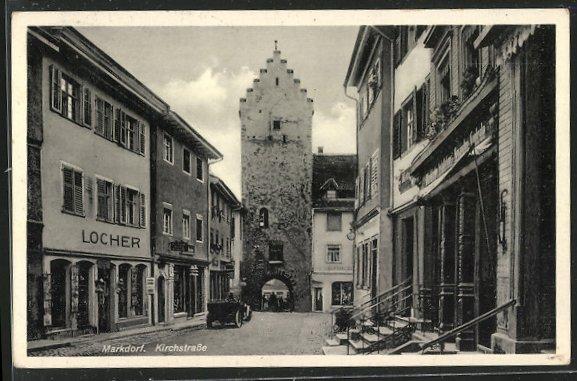 AK Markdorf, Geschäft Locher in der Kirchstrasse 0