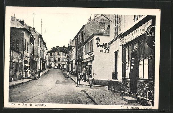 AK Igny, Rue de Versailles 0
