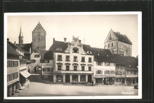 AK Markdorf, Platzansicht, Sattler Karl Gratwohl, H. Waller Kupferschmied 0