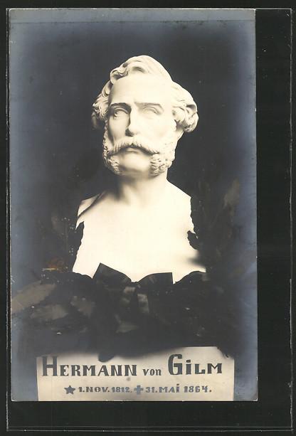 AK Büste von Dichter Hermann von Gilm 0