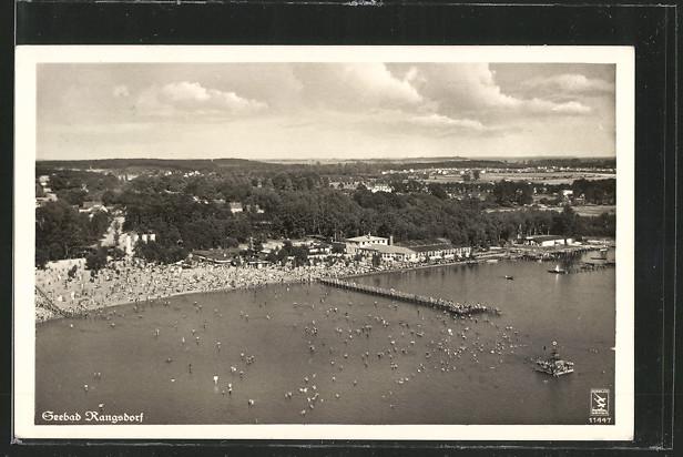 AK Rangsdorf, Fliegeraufnahme des Seebades 0