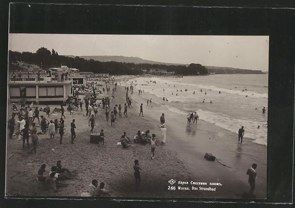 AK Warna, Das Strandbad mit Badegästen 0