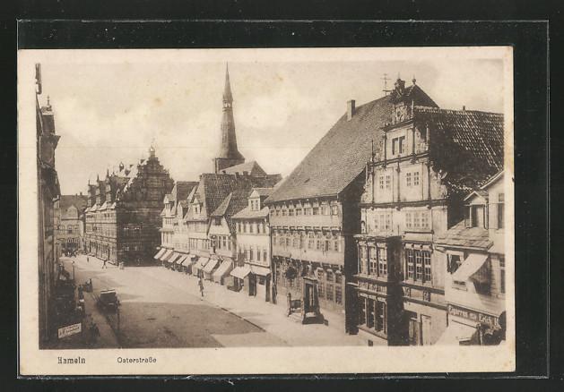 AK Hameln, Osterstrasse mit Geschäften 0