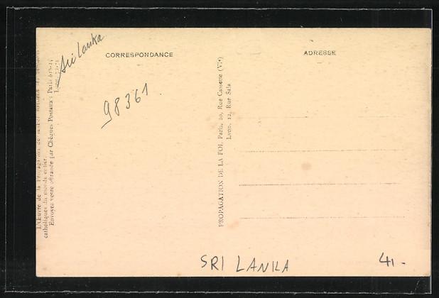 AK Sri-Lanka-Ceylon, Les Pecheurs sur le Lac de Batticloa, Missions des PP. Jesuits 1