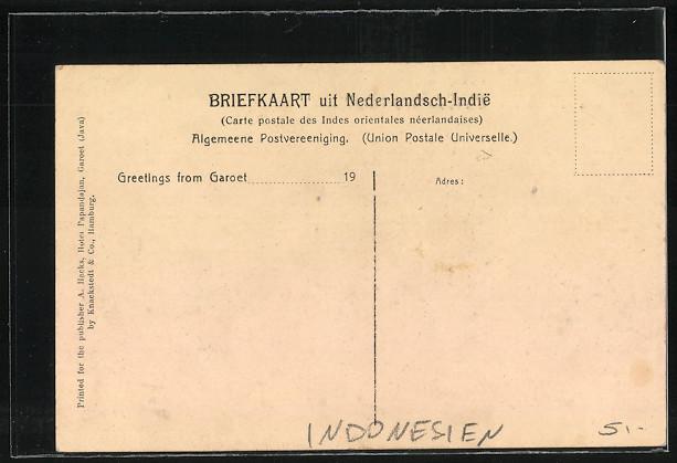 AK Garoet, Der Wegweiser im Schwefeldampf des zweiten Teils des Kamodjang. 1